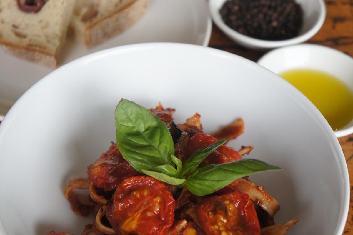 Amazing Roasted Eggplant and Tomato Pasta | Head This Way